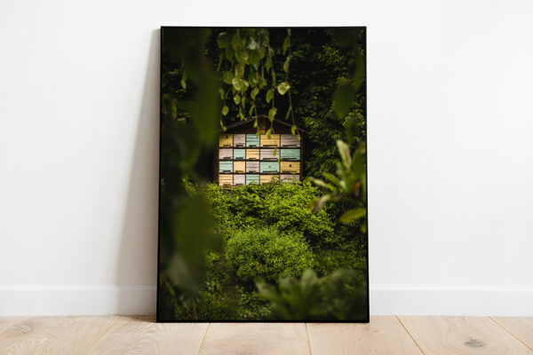 Bee house apiary preview framed image