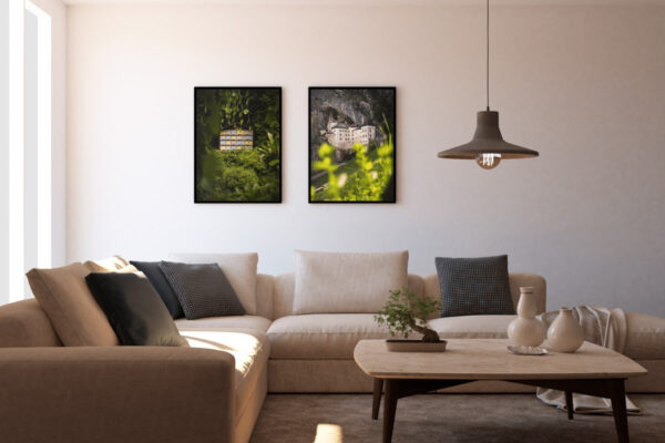 Bee house and Predjama castle photo wall