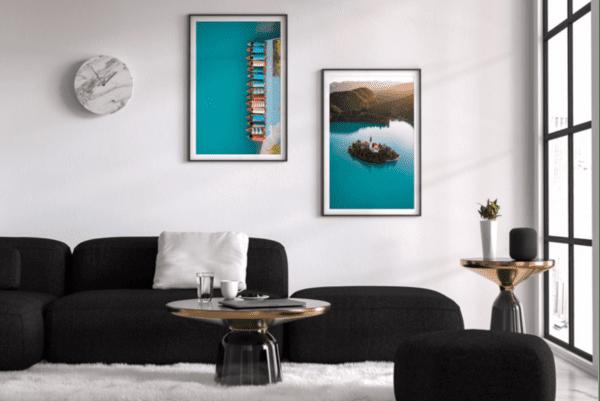 Lake Bled and Pletna boats photo wall
