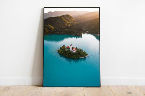 Lake Bled island preview framed image