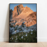 Mount Jalovec in the morning light preview framed image