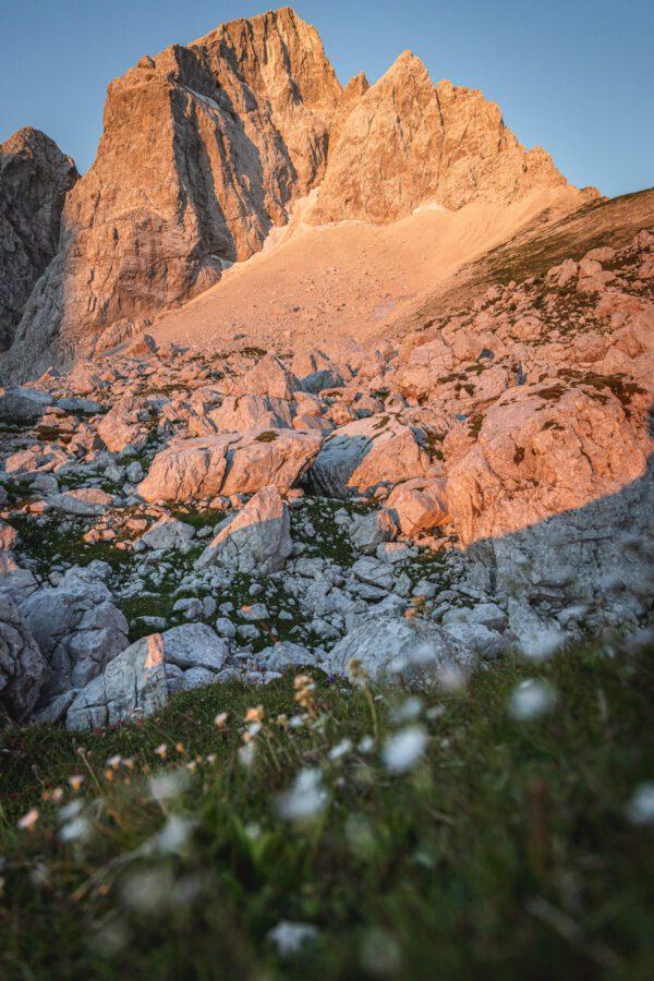 Mount Jalovec in the morning light