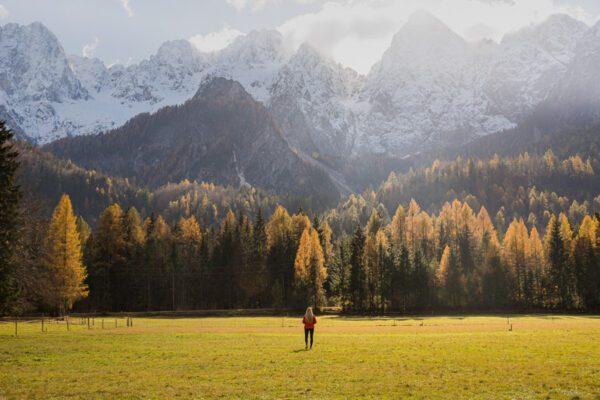 Autumn View on Mountain Špik