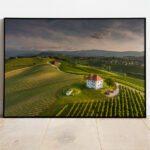 Škalce vineyards preview framed image