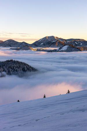 Soriška planina above the clouds