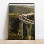 Viaduct Črni Kal preview framed picture