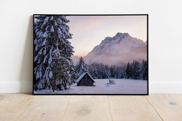 Winter scenery preview framed picture